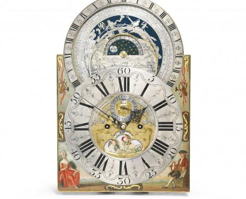 Staand Horloge met Planisferium door Rutgerus van Meurs - 18e eeuw