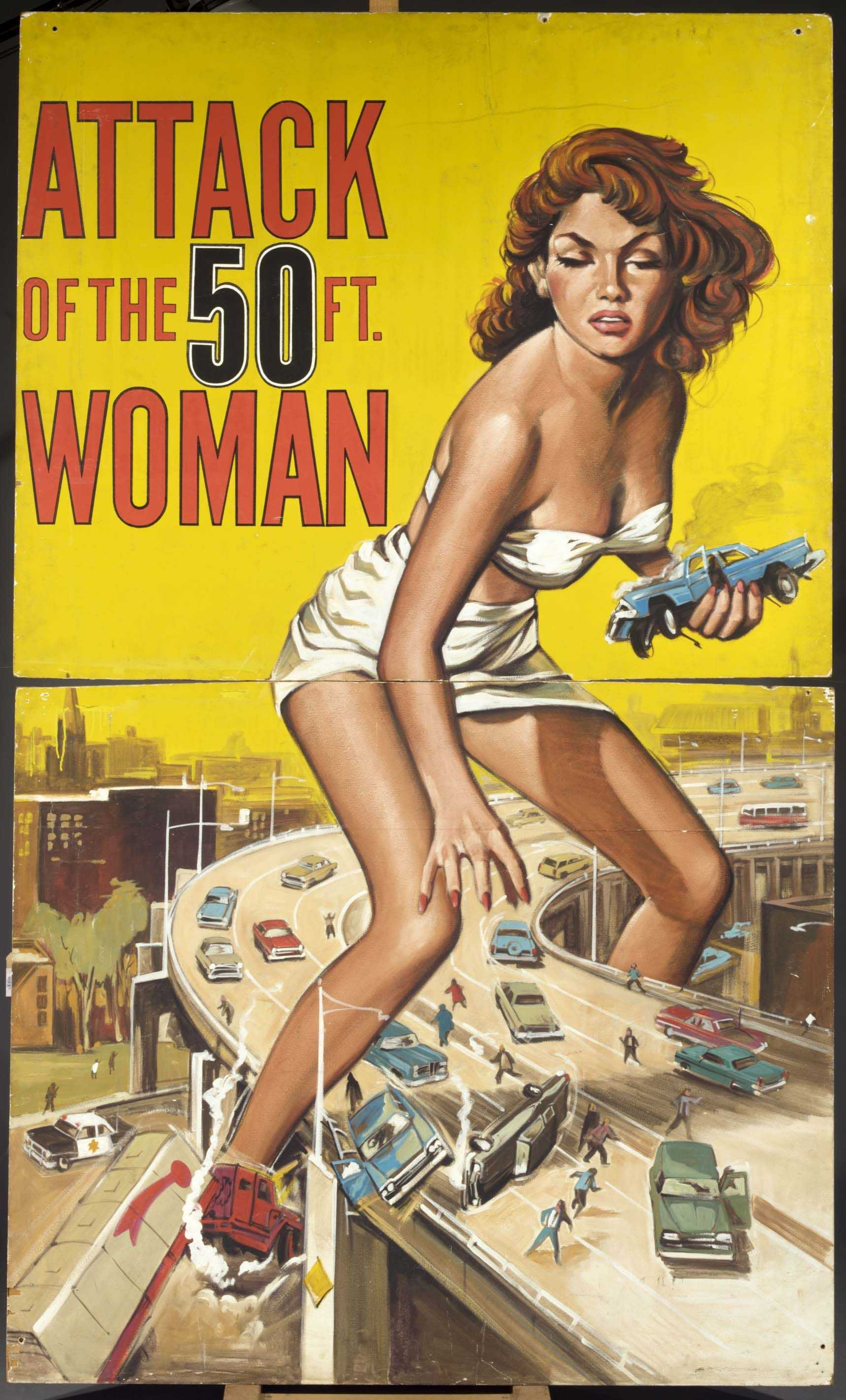 Attack of the 50 Foot Woman Attack of the 50ft woman cult film poster 1958 Planetarium